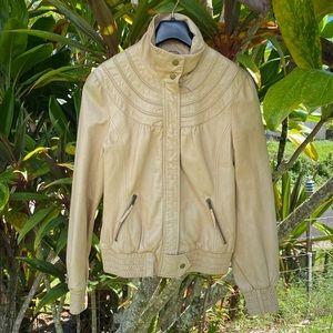 Idra Leather Bomber Jacket